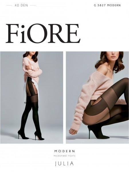 Fiore City Girl - 40 denier mock tenir des collants avec motif houndstooth