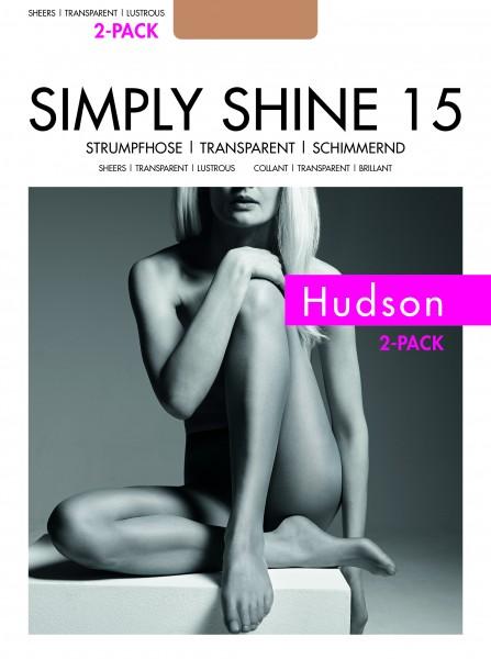 Hudson Simply Shine 15 Collant Brillant 2-Pack