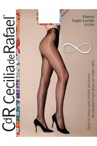 Cecilia de Rafael Eterno Super Lucido 20 - Collant ultra brillant avec ceinture invisible