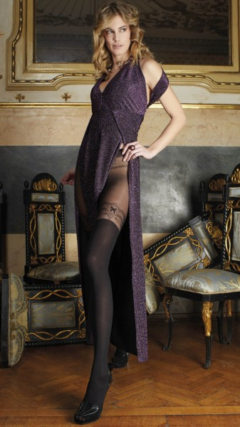 Trasparenze Casanova - Sensuous mock hold up tights with lace top design