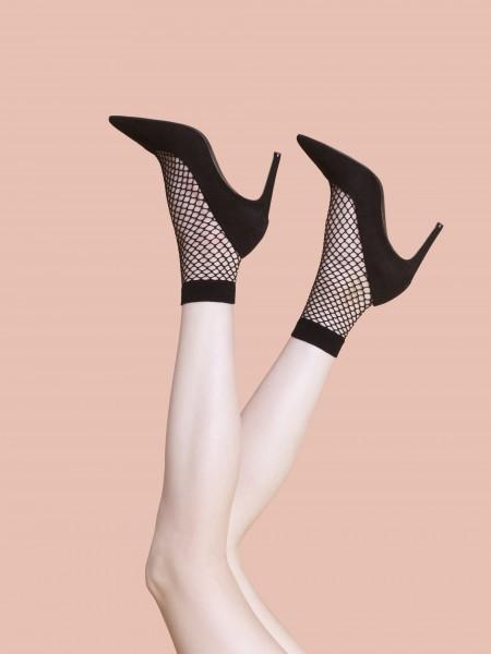Fiore Ash - Soft fishnet ankle socks