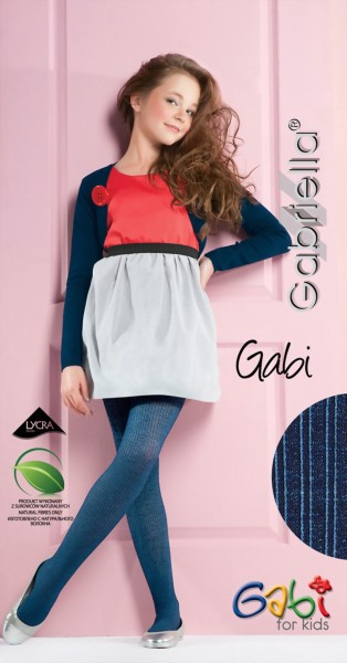 Gabriella - Opaque ribbed childrens tights Gabi