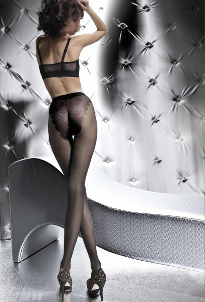 Fiore - Elegant classic tights with bikini brief top Klara 20 denier
