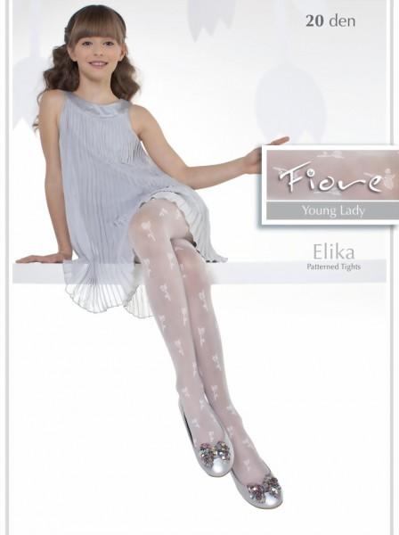 Fiore - Elegant childrens tights with flower pattern Elika 20 denier