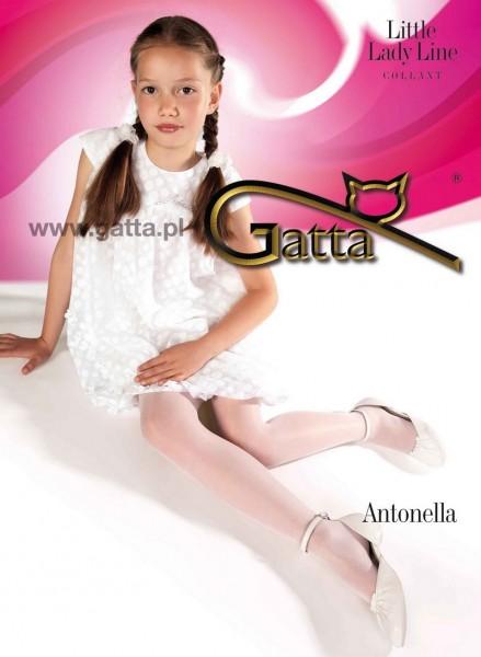 Fiore Elegant plain tights for girls Antonella