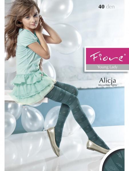 Fiore - Collants enfants tendance à rayures Alicja 40 denier