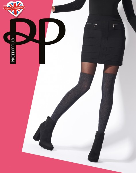 Pretty Polly Marl over the knee Cable Collant