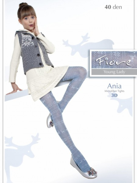 b2d7d949f58df Fiore - Trendy childrens tights with norwegian pattern Ania 40 denier