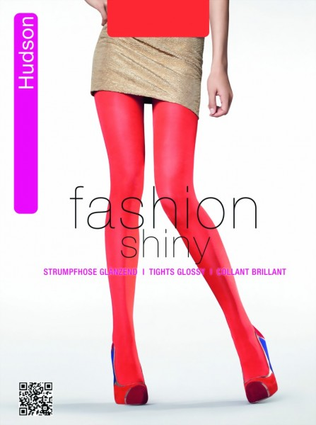 Hudson - Opaque glossy tights in trendy colors Glossy Glimmer