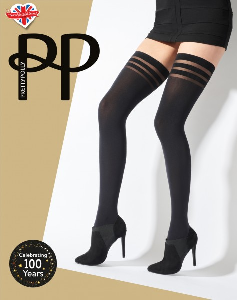 Pretty Polly Banded Top Hold Ups - Bas jarretière opaque