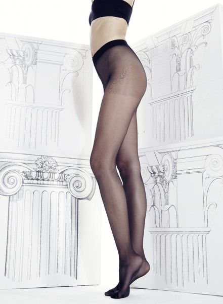 Omero Divina - Collant sans couture à la taille avec ceinture confortable