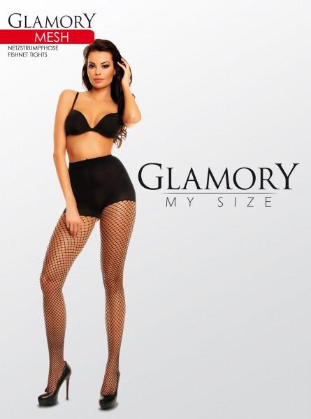 Glamory Mesh - Elégant collant résille taille plus