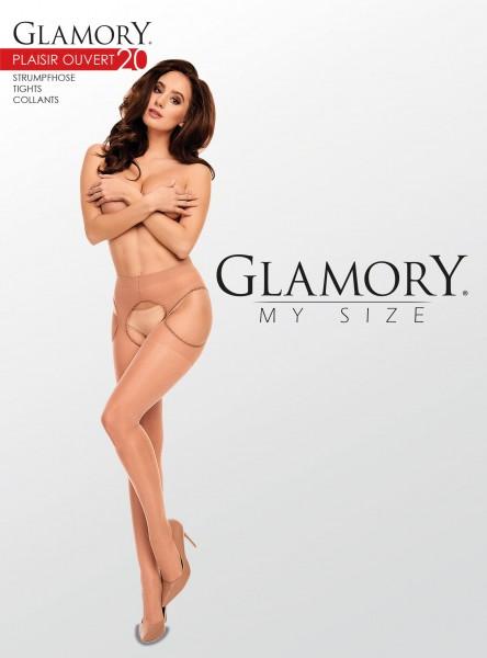 Glamory Plaisir Ouvert 20 - Collant transparent avec porte-jarretelles incorporé