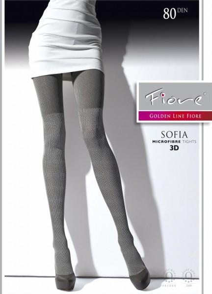Fiore - Opaque all over pattern tights Sofia 80 DEN